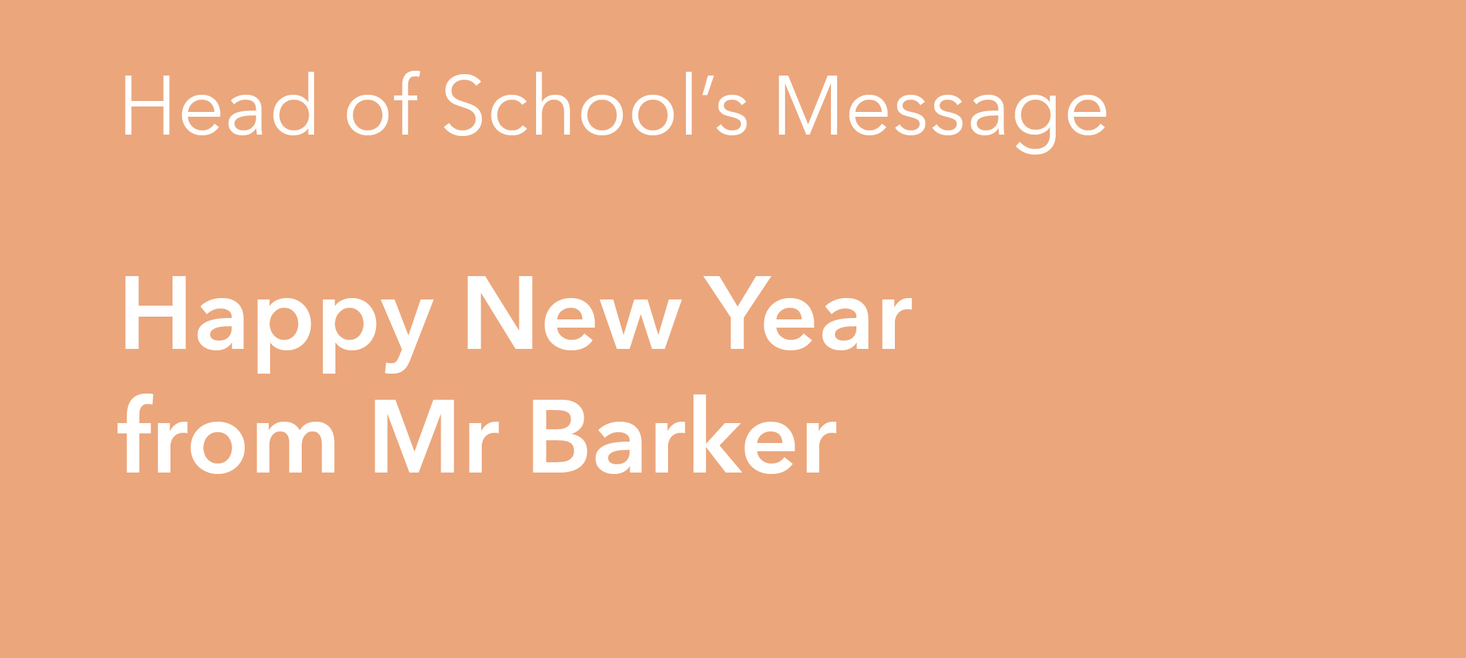 Happy New Year from Mr Barker
